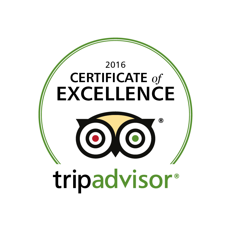 Certificate of Excellence by TripAdvisor