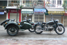 Sidecar in the city