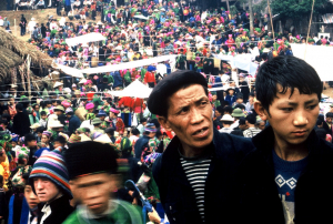 Hmong men at the love market