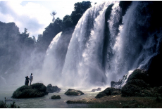 Waterfall on the Chinese border