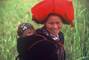 Red Dao lady near Sapa