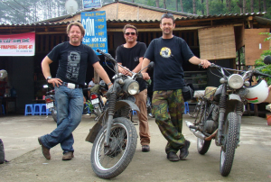 Charley Boorman at the border