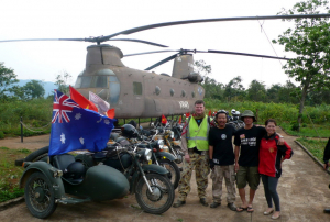 Our crew and a Chinook