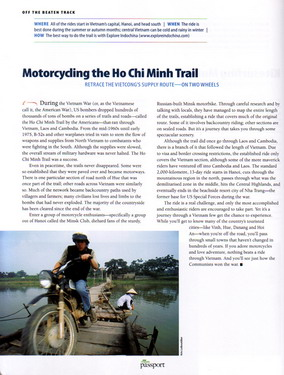 Motorcycling the Hochiminh Trail