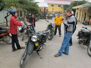 Vietnam Motorcycle Expedition Team Collects In Hanoi
