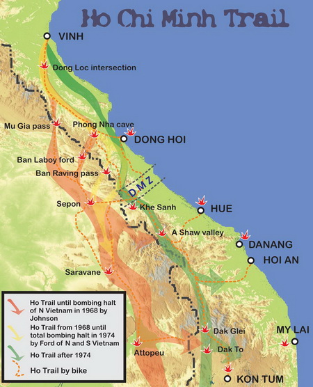 Ho Chi Minh Trail Before and Now Photos - Explore Indochina