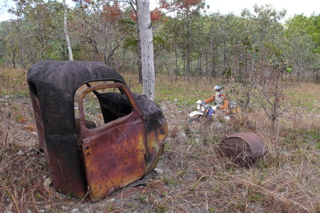 Ho Chi Minh Trail truck wreck