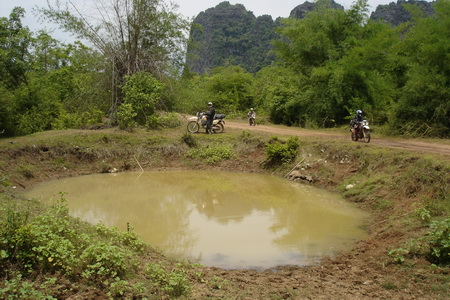 Ho Chi Minh Trail craters bombs